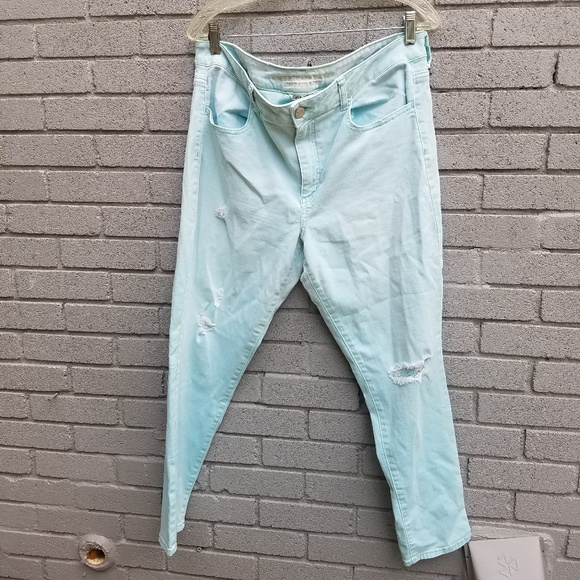 American Eagle Outfitters Denim - AE mid-rise jeggings mint blue super stretch 18reg
